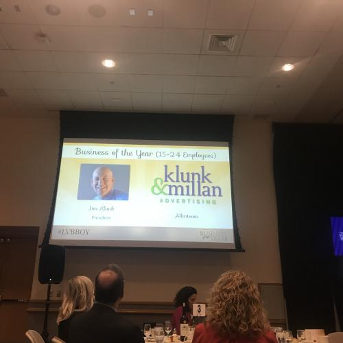 Klunk & Millan Honored at Business of the Year Awards